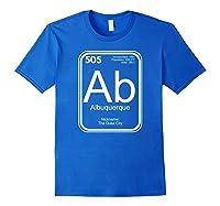 Albuquerque Tshirt Periodic Table New Mexico Gift Royal Blue