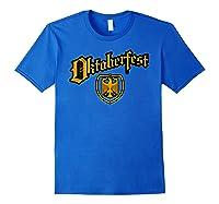 Oktoberfest German Eagle Shield Classic Vintage Shirts Royal Blue