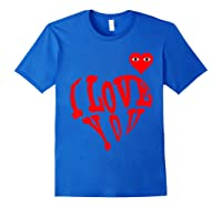Heart For Comme Lovely In The Des Gift T-shirt Of Garcon Tee Royal Blue