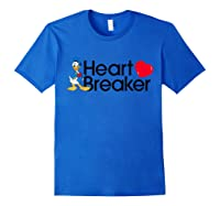 Disney Donald Valentine Heartbreaker T Shirt Royal Blue