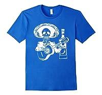 Mariachi Skeleton With Tequila Dia De Los Muertos Shirts Royal Blue