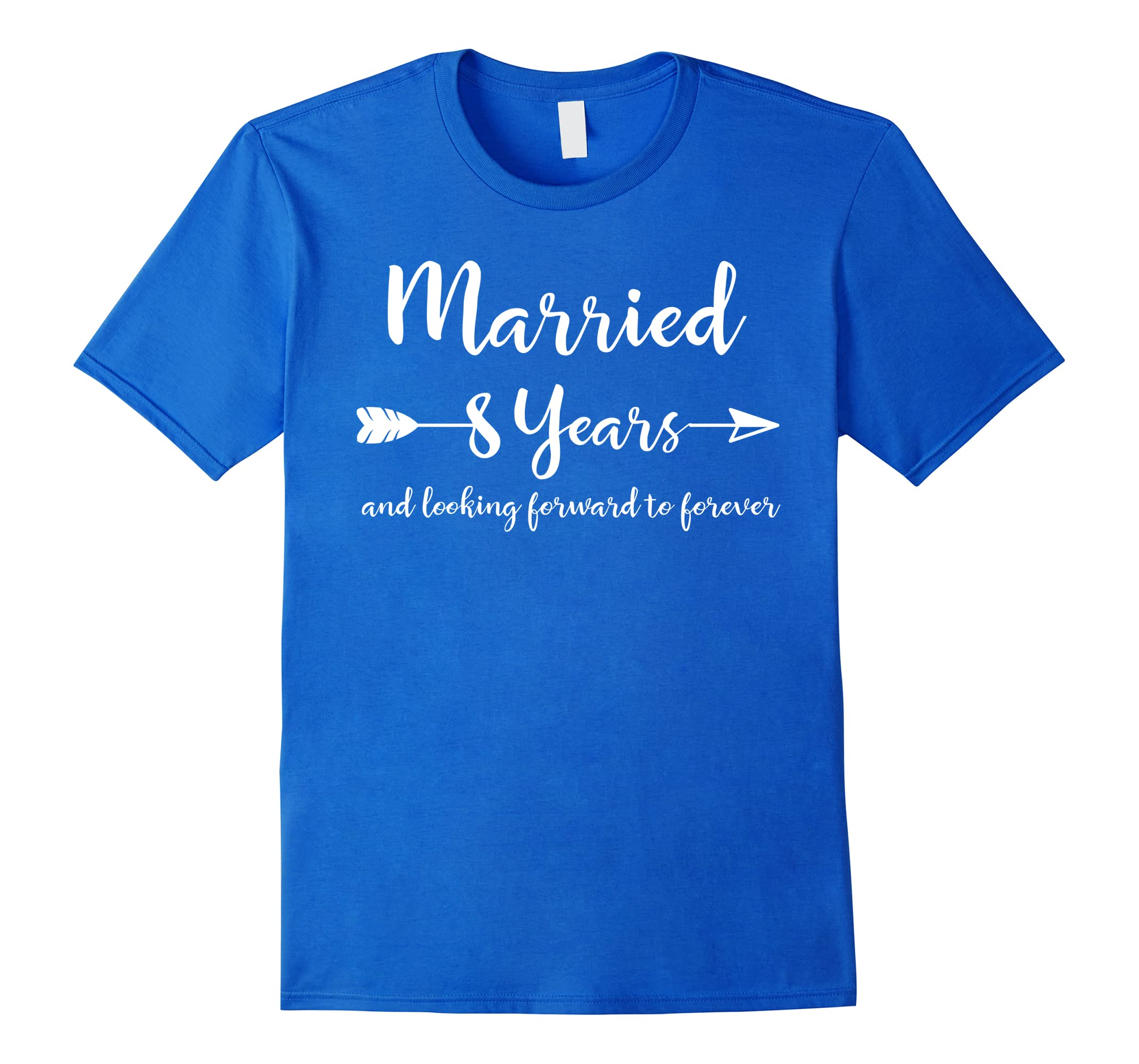 8th Wedding Anniversary Gift T-Shirt for Him Her Couples-RT