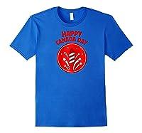 Happy Canada Day Fireworks Raglan Baseball Ts Shirts Royal Blue