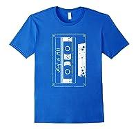 Vintage Best Of 1981 80s Tape Cassette Funny Dj Shirts Royal Blue