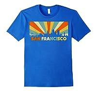 San Francisco City T-shirt, Souvenir Ca Retro Vintage Shirt Royal Blue