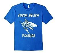 Cocoa Beach Shark Skeleton T Shirt Royal Blue