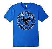Shir Response Eam Back Prin Shirts Royal Blue