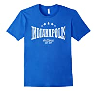 Indianapolis In Shirt Distressed Vintage Home City Pride Royal Blue