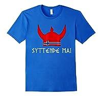 Syttende Mai Viking 17th Of May Norway Norwegian Shirts Royal Blue