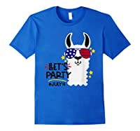 Funny Patriotic Independence Day Shirts Royal Blue
