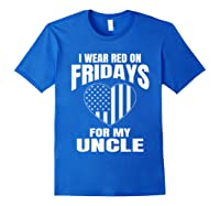 Red Fridays Deployed Uncle T-shirt Royal Blue