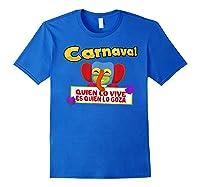 Carnaval De Barranquilla Marimonda T Shirt Royal Blue