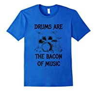 Drums T Shirt Music Musical Instrut Drummer Shirts Royal Blue