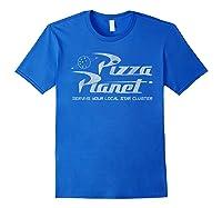 Pixar Toy Story Pizza Planet Distressed Logo Shirts Royal Blue