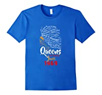 Queens Are Born In June 1969 50th Birthday T-shirt Royal Blue