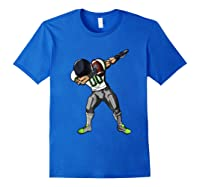 Football Dabbing T Shirt Funny Gray Navy Neon Green Royal Blue