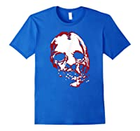 American Horror Story Asylum Bloody Face Shirts Royal Blue