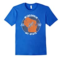 Wisconsin State Tourist Gift Shirts Royal Blue