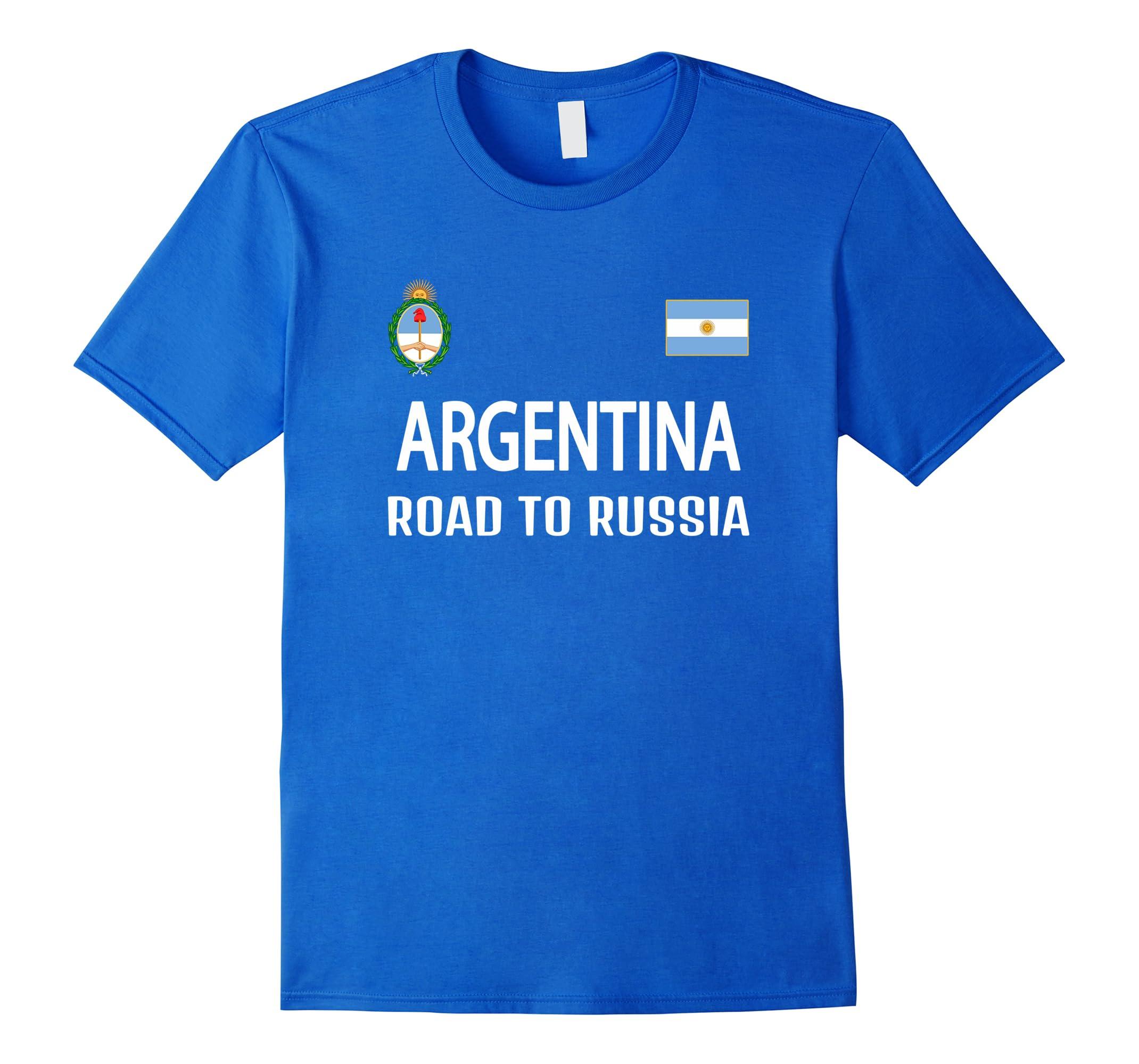 Argentina road to Russia T-shirt Men Women Kids Soccer-RT
