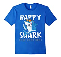 Bappy Shark, Fathers Day Gift From Wife Son Daughter Shirts Royal Blue
