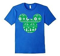 Disney Mickey Christmas Snowflakes T Shirt Royal Blue