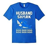 Husband Shark Doo Doo Shirt For Matching Family Pajamas Royal Blue