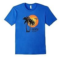 St Augustine Souvenir Florida Sun Shirts Royal Blue