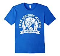 Addisons Hooded Warrior T-shirt- Addisons Disease Awareness Royal Blue