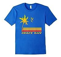 Retro Grace Bay Beach T-shirt Island Paradise Shirt Royal Blue