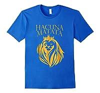 \'s Golden Lion King-hakuna Matata Tshirt-premium Quality Royal Blue