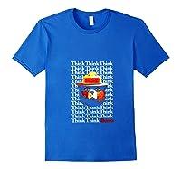 Smokey Bear Think Think Thanks T-shirt Royal Blue