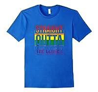Straight Outta The Closet Pride T-shirt Royal Blue