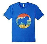 English Bulldog Retro English Bulldog Dog Shirts Royal Blue