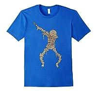 Dabbing Mummy Halloween Shirt Cute Preserved Human Dab Gift Royal Blue