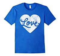 Cute Cursive Love Valentines Day Red For Shirts Royal Blue