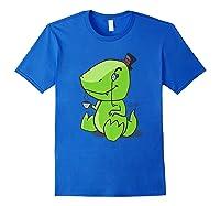 Tea Rex Cute Dino English Tea Drinking Party Shirts Royal Blue