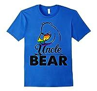 Uncle Bear Lgbt Rainbow Pride Gay Lesbian Gifts Shirts Royal Blue