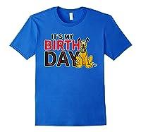 Disney Pluto My Birthday T Shirt Royal Blue