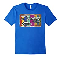 Auto Painting Old Stuff Rusty Sign T Shirt Gift For Pickers Royal Blue