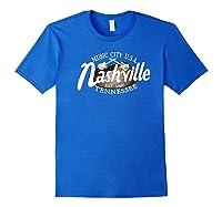 Nashville Tn Tshirt Vintage Music City Usa Est 1806 Gift Royal Blue