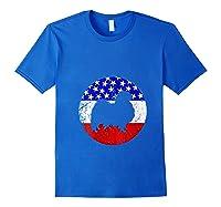 American Flag Japanese Chin Vintage Retro Japanese Chin Dog Shirts Royal Blue