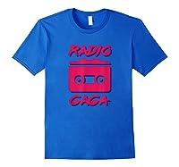 Radio Gogo Fan T Shirt 80s Edition Royal Blue