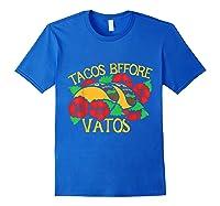 Tacos Before Vatos Artistic Taco Tuesday Shirts Royal Blue