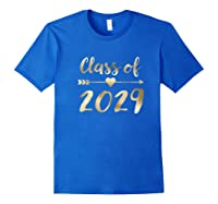 Class Of 2029 Grow With Me First Day Of School Gold Shirts Royal Blue