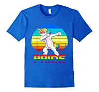 Lgbt Unicorn Dabbing T-shirt Gay And Lesbian Pride Royal Blue