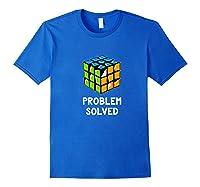 Problem Solved - Rubic Cube Premium T-shirt Royal Blue