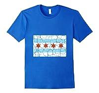 Chicago City Flag Shirt Illinois Retro Vintage Royal Blue
