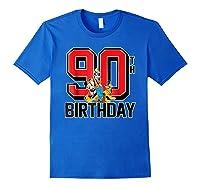 Disney Birthday Group 90th T Shirt Royal Blue