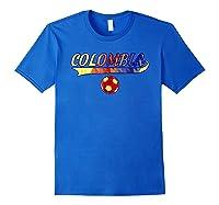 Colombia Team World Fan Soccer 2018 Cup Fan T Shirt Royal Blue