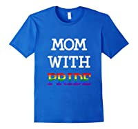 Mom With Pride Lgbt Rainbow Tank Top Shirts Royal Blue